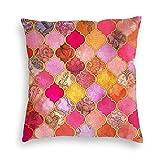 catty bluss Kissenhülle Dekorative Dekokissen Marokkanische dekorative Fliese Taupe Kissenbezüge...