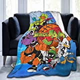 Space Jam Tune Squad Marvin & Bugs Bunny Flannel Blanket Super Soft, Comfortable, Warm, Air-Conditioning, Four Seasons Blanket