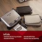 George Foreman GRP4842P Multi-Plate Evolve Grill With Ceramic Grilling Plates  and Waffle Plates, Platinum #3