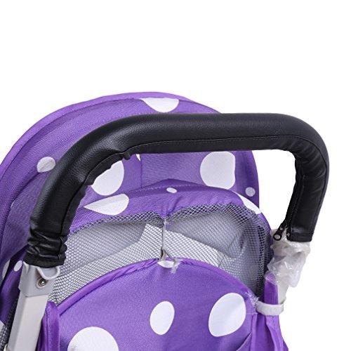 nabati Kinderwagen Buggy Zubeh?r Griffbezug Handgriffe Kinderwagengriffbezug Griff (Schwarz)