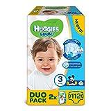 Huggies - Bimbo - Pañales - Talla 3 (4-9 kg) - 2 x 56 pañales