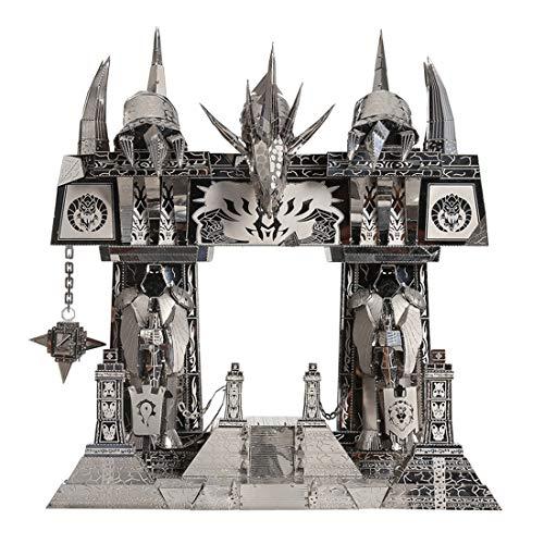 MOEGEN 3D Metall Modell Konstruktionsspielzeug, Model Kit DIY 3D Metall Puzzle Erwachsene Kinder Technik Spielzeug Metallbausatz Kreative Handwerk Geschenk - Das dunkle Portal