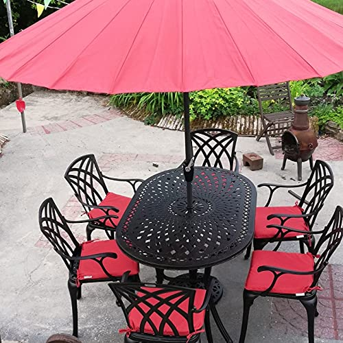JUNE 150 cm x 95 cm 4 Seater Oval Garden Table by Lazy Susan, Maintenance Free, Weatherproof, Sturdy, Sand-cast Aluminium, Antique Bronze Finish, Matching April Chairs