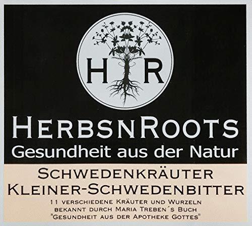 ✅ Original SCHWEDENKRÄUTER von MARIA TREBEN inspiriert • 11 Kräuter & Wurzeln • Bitterstoffe für den Kleinen SCHWEDENBITTER • vegan • Immunsystem stärken • Schwedentropfen