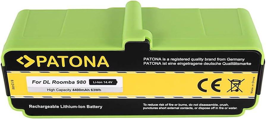 PATONA Power Bateria Compatible con iRobot Roomba 866, 886, 896, 900, 966, 980 14.4V / 4400mAh