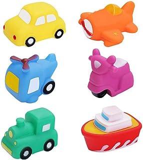 yeesport 6PCS Toddlers Vehicles Bath Toys Funny Bath Squirter Toys Bathtub Floating Toy Airplane Bath Toys Floating Plane ...