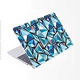 SDH Funda para MacBook Pro de 15 pulgadas 2019 2018 2017 2016 lanzamiento A1990 A1707,piel de teclado degradado compatible con Mac bookPro 15 Touch Bar & ID, Mai Lang 12