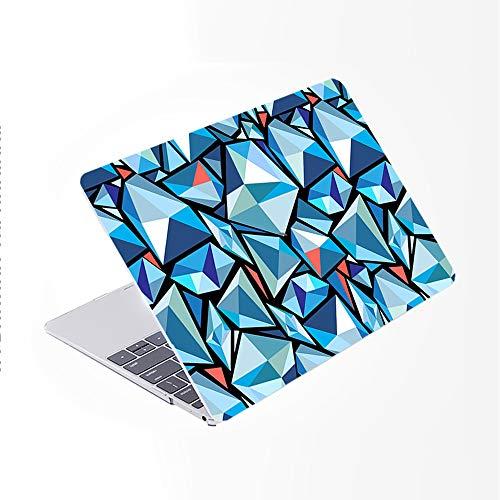 """SDH Coque pour MacBook Pro 15"""" 2019 2018 2017 2016 version A1990 A1707 en plastique rigide avec motif en forme de coque et clavier dégradé compatible avec Mac BookPro 15 Touch Bar et ID, Mai Lang 12"""