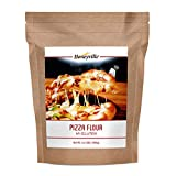 Honeyville Hi-Gluten Pizza Dough Flour - Premium Pizzeria Flour, for Pizza, Pasta, Flatbreads, Focaccia, Crackers, and More (4.4 Pound Pouch)