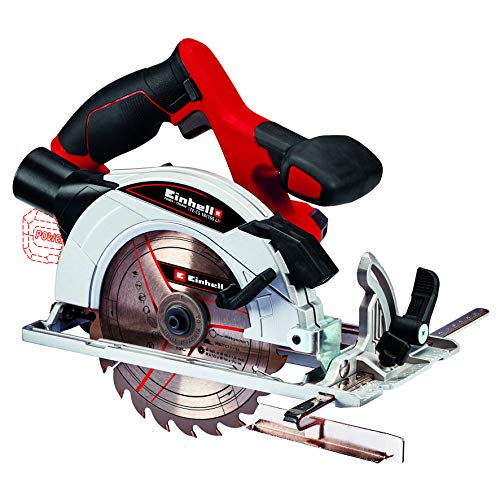 Einhell TE-CS Power X-Change 18-Volt Cordless 6-1/2 Inch 4,200-RPM Circular Saw, w/Adjustable Angle + Depth, Saw Blade Included, LED Lamp, Tool Only (Battery and Charger Not Included)