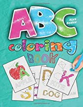 ABC coloring book: 2019 high-quality black&white Alphabet coloring book for kids ages 2-4. Toddler ABC coloring book