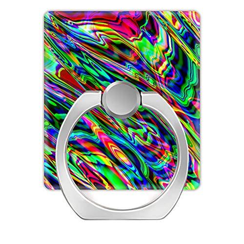 Fingerring-Ständer, 2 Stück, 360 Grad drehbar, Handy-Ringhalter für iPhone, Samsung Galaxy, Smartphones und Tablet, Hülle-A psicod ̈¦lica