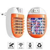 FISHOAKY - 2 Paquetes de Enchufe antieléctrico para Insectos de Interior, inocuo para Animales, Color Naranja