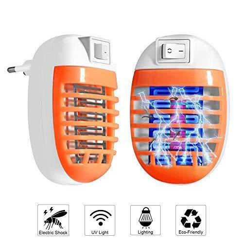 FishOaky - 2 Paquetes de Enchufe antieléctrico para Insectos de Interior, inocuo...