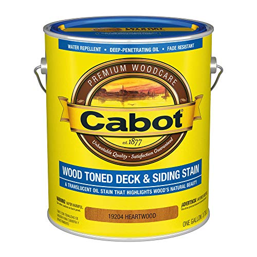 Cabot 140.0019204.007 Wood Toned Deck & Siding Low VOC Exterior Stain, Gallon, Heartwood