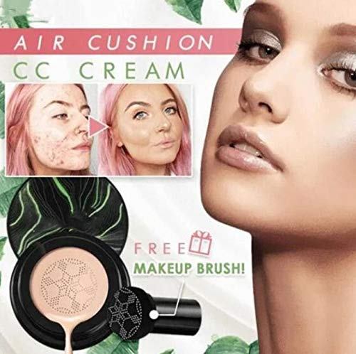 Flawless CC Cream Foundation,Air Cushion CC Cream,CC Cream Foundation Full Coverage - Easy to Use,Suitable for All Skin Types ,Excellent Oil Controlling-Great Gifts for Women (NATURAL COLOR, 1 PC)