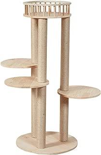 High-Hardness Cat Tree Multi-Storey Luxury Villa Wooden Cat Climbing Frame Beautiful and Wearable (Size : 50X115CM)