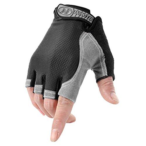 YSXY Unisex Fingerlose Handschuhe Sport Halbfinger Handschuhe Fäustlinge Fahrradhandschuhe,atmungsaktiv,Anti-rutsch für Angeln, Radfahren, Jagd, Reiten, Motorrad und Fitness für Herren Damen