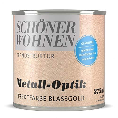 Trendstruktur- Metall-Optik - Effektfarbe Blassgold glänzend 375 ml