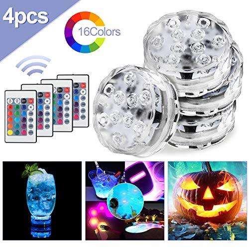 Hengda onderwaterverlichting, IP68 waterdichte LED-verlichting met RGB-afstandsbediening Kleur veranderende lichten Whirlpool bad voor feestvaasbasis