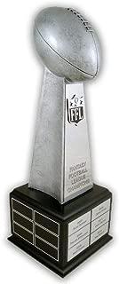 Schoppy's Since 1921 Fantasy Football Championship Perpetual Trophy on Black Wood Base