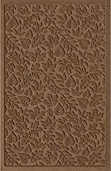 powerful American Carpet Waterhog Fall Day Designer Dark Brown Entrance Carpet 2x5ft with Handle…