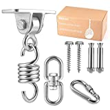 Heavy Duty Stainless Steel Hanging Kit: Swing Hangers and Hammock Spring and swing swivel spinner, Kglobal Swivel Hook and Locking Snap Hooks for Wooden Sets,tire swing swivel,Seat Trapeze Yoga