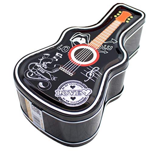 ABOOFAN Weihnachten Spardose Metall Gitarre Form Sparschwein Münzbank Blechdose Geschenkbox für Weihnachten Xmas Neujahr Party Tischdekoration Zufälligen Stil