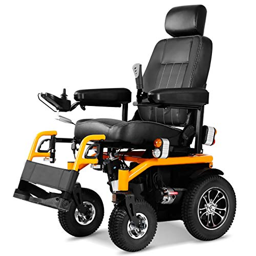 LULA DIOE Elektro-Offroad-Rollstuhl für den Außenbereich, elektromagnetische Bremse, Volllichtsteuerung, Aluminiumlegierung, manueller Modus