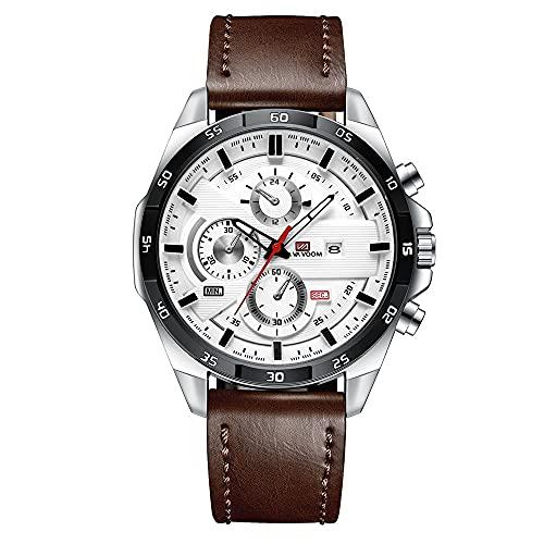 YiChuangMaoYi Reloj Deportivo para Hombres Cinturón de Negocios Calendario Estudiante Estudiante Reloj Impermeable Casual Reloj de Cuarzo (Color : D)