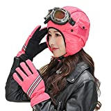 XYSQWZ Cappellino da Pilota Cappelli da Sci Cappello da Cacciatore con Guanti Caldi Invernali E Occhiali da Sci Cappello da Caccia Invernale per Adulti Trapper Impermeabile Antivento Unisex