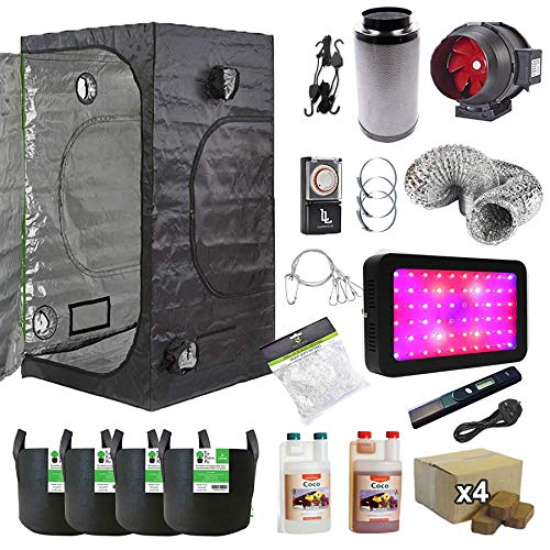 Grow Tent Complete LED Kit 1.5x1.5x2m Coco Coir Canna Hydroponics