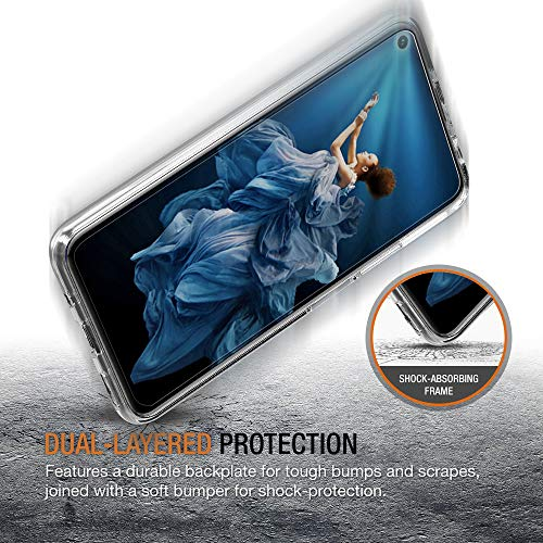 ivoler Hülle für Huawei Nova 5T / Honor 20 + 3 Stück Panzerglas, Durchsichtig Handyhülle Transparent Silikon TPU Schutzhülle Case mit Hartglas Schutzfolie Glas für Huawei Nova 5T / Honor 20 - 6