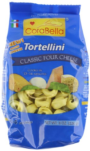 Corabella Four Cheese Tortellini Pasta, Classic,8 Ounce (Pack of 12)