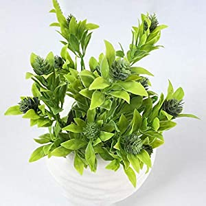 Artificial and Dried Flower 1 Piece Green Grass Artificial Plants Plastic Flowers Household Wedding Spring Summer Living Room Decor