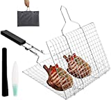 Nicunom Stainless Steel Grill Basket, Folding...