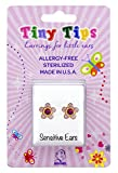 STUDEX Birthstone Tiny Tips Gold Plated October Rose Stud Earrings in Tiffany Setting for Little Sensitive Ears 3mm