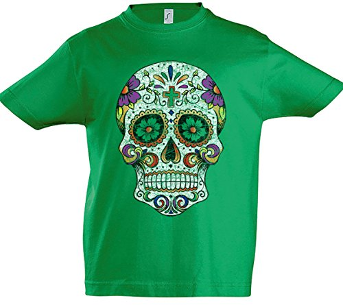 The Mermaid Conviction Mexican Skull III Niños T-Shirt