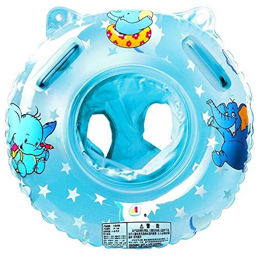 Piscina anillo de natación inflable rosa inflable asiento bebé anillo flotante tableros flotantes, asiento flotante inflable para niños de 6 meses a 6 años, materiales respetuosos con el medio ambient