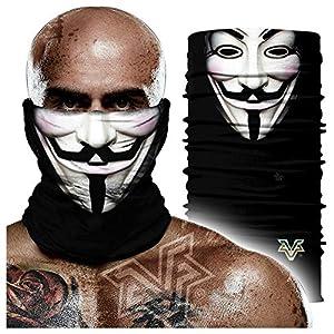 51tDai6ROSL. SS300  - Pañuelo sin costuras,V Word Vendetta Iron Man Venda De Payaso 3d Diadema Mágica, Hip Hop Bufanda De Protección Solar Transpirable Absorbente De Sudor 24 * 48cm A