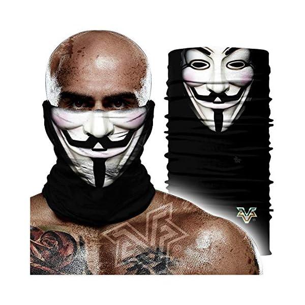 Pañuelo sin costuras,V Word Vendetta Iron Man Venda De Payaso 3d Diadema Mágica, Hip Hop Bufanda De Protección Solar Transpirable Absorbente De Sudor 24 * 48cm A