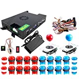 ARCADORA 3A Original Pandora Box DX Family Version Game Set 3000 in 1 Have 3D and 3P / 4P Game, LED Buttons, Joysticks, Harness Wiring Cable, Full DIY Arcade Kit
