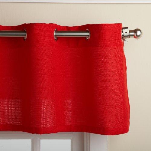 "LORRAINE HOME FASHIONS, Red Jackson 58 x 12-inch Valance, 58"" x 12"""