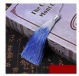 Accesorios Características 2PC / Bolsa Nudo Chino De La Borla del Color del Gradiente Libro Artesanías Chinas Regalo Cortinas Ropa Joyería Colgante Los 26CM Regalo (Color : Blue)