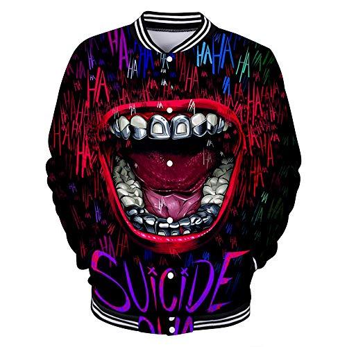 FONLONLON HaHa Joker Pullover Freizeitjacke Youthful Energy Jacket Summer Neue Bequeme Jacke Unisex (Color : A03, Size : S)
