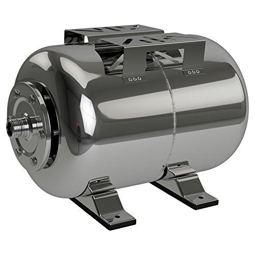 AWM AM-HWW-E24 Hauswasserwerk Druckkessel 24L Membrankessel Edelstahl Ausdehnungsgefäß Druckbehälter