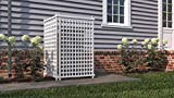 Zippity Outdoor Products ZP19047 Highland Lattice Privacy Screen, White