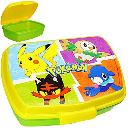 alles-meine.de GmbH Lunchbox / Brotdose - Pokémon Pikachu - BPA frei - 1 Fach - Brotbüchse Küche Essen Kinder Vesperdose - Vesperbrotdose - Schule Kindergarten Kita - für Mädchen..