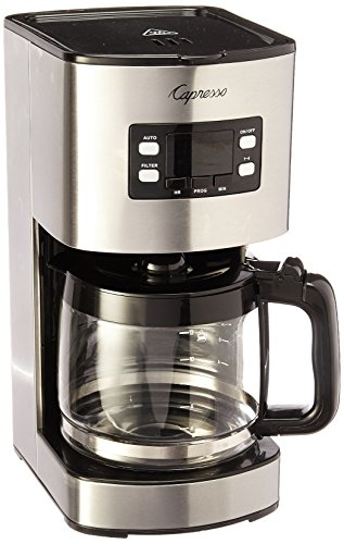 Capresso 434.05 12 Cup Coffee Maker SG300, Stainless Steel