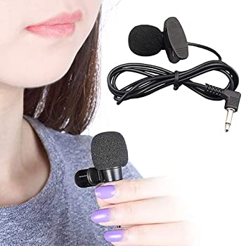 FAgdsyigao 3.5mm Small Size Collar Clip Microphone Hands Free Computer Clip On Mini Lapel Microphone